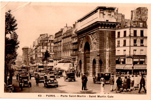 130127 Postcard of Porte Saint Martin Paris edited